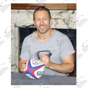 Jonny Wilkinson Signed England Rugby Ball - Damaged Stock B
