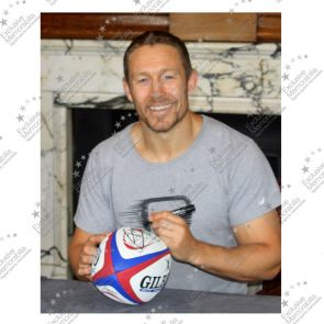Jonny Wilkinson And Martin Johnson Signed England Rugby Ball. In Display Case