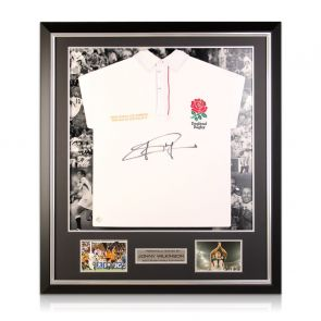 Jonny Wilkinson Signed England Rugby Shirt. Luxury Frame