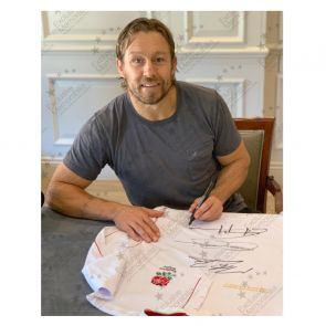 Jonny Wilkinson, Martin Johnson And Jason Robinson Signed England Rugby Shirt. In Gift Box