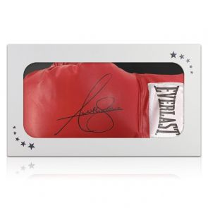 Anthony Joshua Signed Red Boxing Glove. In Gift Box