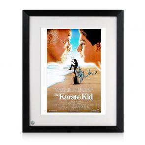 Ralph Macchio Signed Karate Kid Poster. Framed