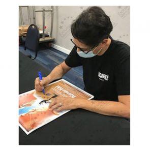 Ralph Macchio Signed Karate Kid Poster (Border). Damaged A