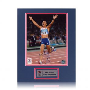 Dame Kelly Holmes signed photo