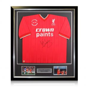 framed Kenny Dalglish Signed Shirt