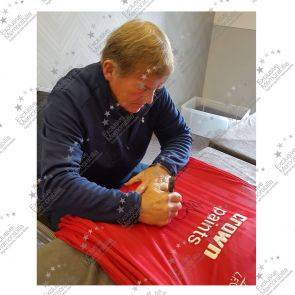 Kenny Dalglish Signed  Liverpool Football Shirt 1985-86. Deluxe Frame