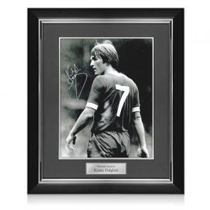 Kenny Dalglish Liverpool Signed Photo: The King's Debut. Deluxe Frame
