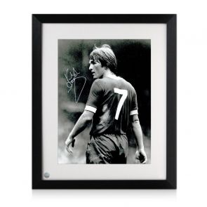 Kenny Dalglish Liverpool Signed Photo: The King's Debut. Framed