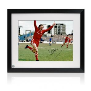 Kenny Dalglish Signed Liverpool Photo: The Winning Goal. Framed