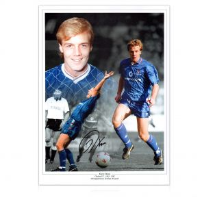 Kerry Dixon Signed Chelsea Photo