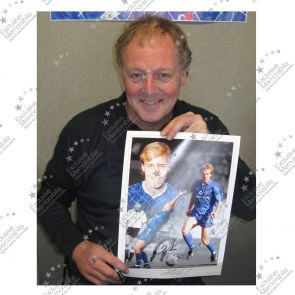 Framed Kerry Dixon Signed Chelsea Photo