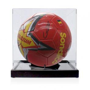 Kevin De Bruyne Signed Belgium Football. In Display Case