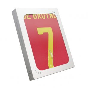 Kevin De Bruyne Signed Belgium Shirt. Gift Box