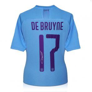 Kevin De Bruyne Signed Manchester City 2019-20 Shirt (European print)