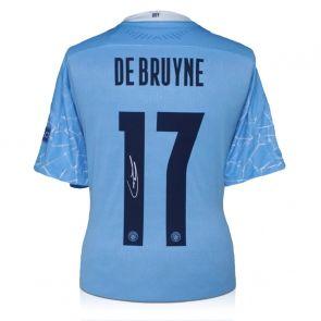 Kevin De Bruyne Signed Manchester City 2020-21 Shirt (European print)