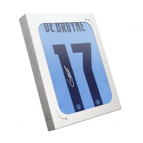 Kevin De Bruyne Signed Manchester City 2020-21 Shirt (European print). Gift Box