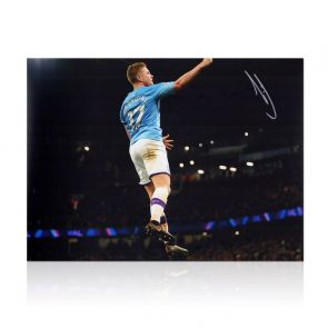 Kevin De Bruyne Signed Manchester City Photo