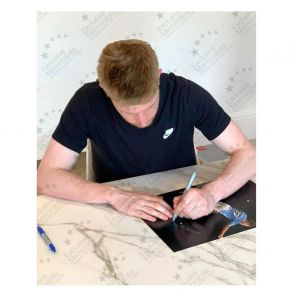 Kevin De Bruyne Signed Manchester City Photo. Gift Box