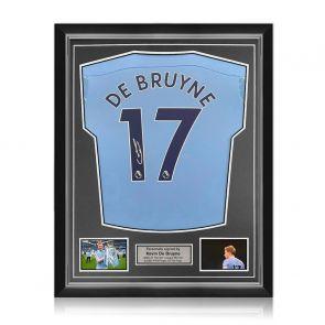 Kevin De Bruyne Signed Manchester City Shirt. 2020-21. Superior Frame