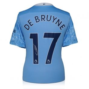 Kevin De Bruyne Signed Manchester City Shirt. 2020-21