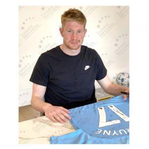 Kevin De Bruyne Signed Manchester City 2019-20 Shirt. Framed