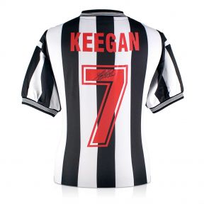 Kevin Keegan Back Signed Newcastle United Shirt