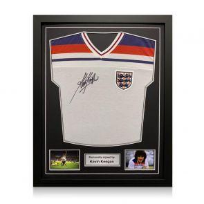 Kevin Keegan Signed 1982 England Shirt. Standard Frame