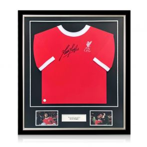 Kevin Keegan Signed 1973 Liverpool Shirt. Deluxe Frame