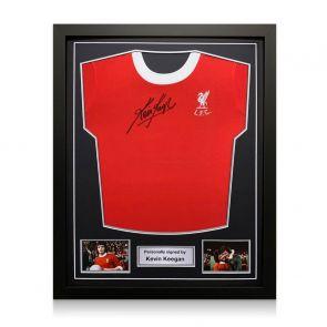 Kevin Keegan Signed 1973 Liverpool Shirt. Standard Frame