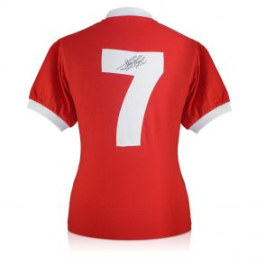 Kevin Keegan Back Signed Liverpool 1973 Number Seven Shirt