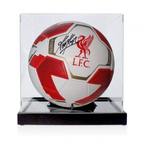 Kevin Keegan Signed Liverpool Football. In Display Case