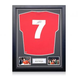 Kevin Keegan Signed Liverpool 1973 Number Seven Football Shirt. Standard Frame