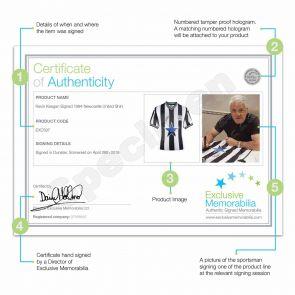 Kevin Keegan Signed Newcastle United Shirt