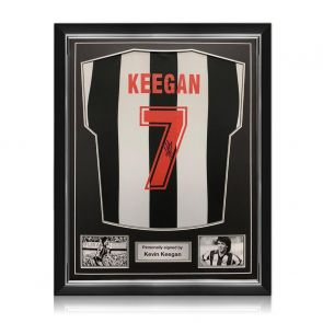 Kevin Keegan Signed Newcastle United 1984 Shirt. Superior Frame