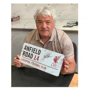 Kevin Keegan Signed Liverpool Street Sign. Framed