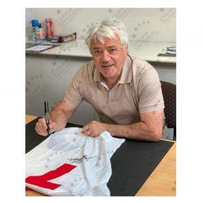 Kevin Keegan Signed Liverpool 1973 Away Shirt. Number 7. Standard Frame