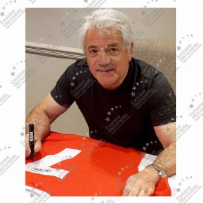 Kevin Keegan Signed Liverpool 1973 Number Seven Football Shirt. Framed