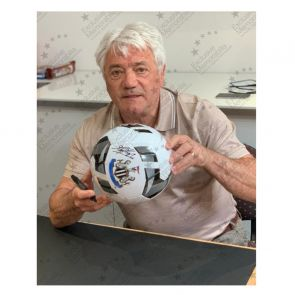 Kevin Keegan Signed Newcastle Football. In Display Case
