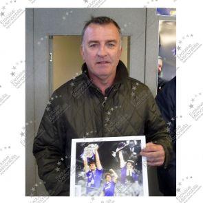 Framed Kevin Ratcliffe Signed Everton Photo