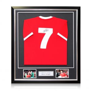 Kevin Keegan Signed And Framed Liverpool 1973 Number Seven Shirt