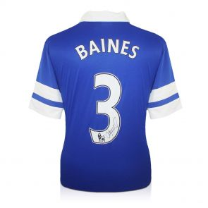 Leighton Baines Signed 2013-14 Everton Football Shirt In Gift Box