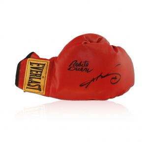 Leonard and Duran signed boxing glove