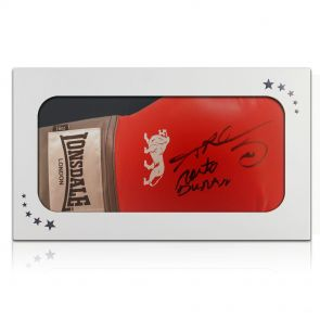 Signed Leonard Duran Boxing Glove In Gift Box