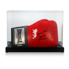 Signed Sugar Ray Leonard and Roberto Duran Glove