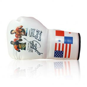 Sugar Ray Leonard and Roberto Duran Signed Boxing Glove