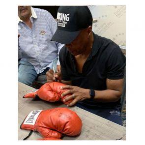 Sugar Ray Leonard, Thomas Hearns And Roberto Duran Signed Glove. In Display Case