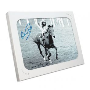 Lester Piggott Signed Horse Racing Photo: Nijinsky. In Gift Box