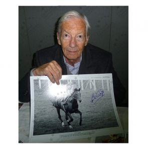 Lester Piggott Signed Horse Racing Photo: Nijinsky. Framed