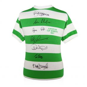 Celtic 1967 European Cup Winners 'Lisbon Lions' Signed Shirt