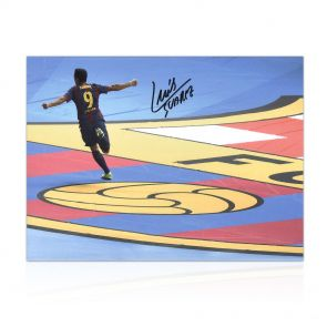 Luis Suarez Signed Photo: Champions League Final Goal. In Gift Box